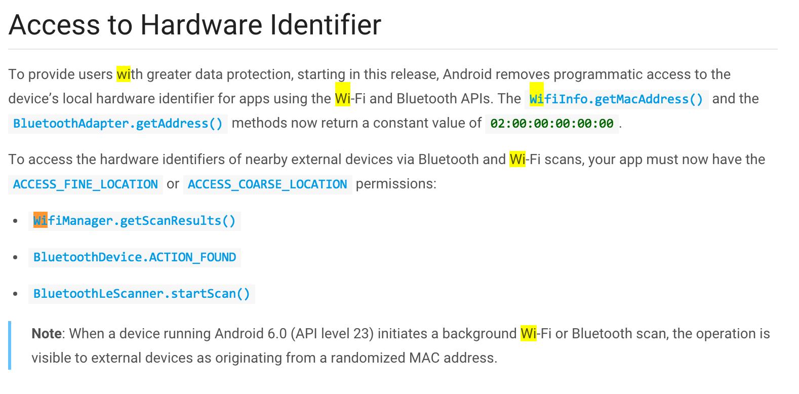 access to hardvare identifier