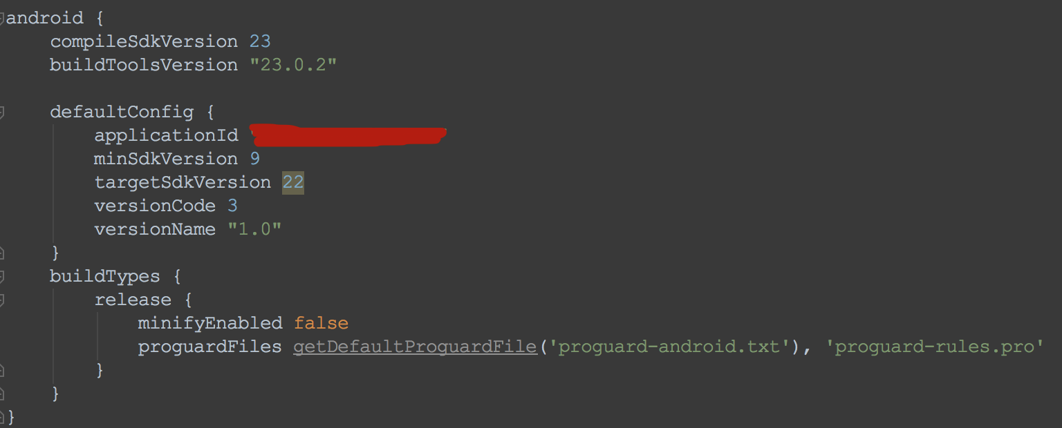 config in android studio