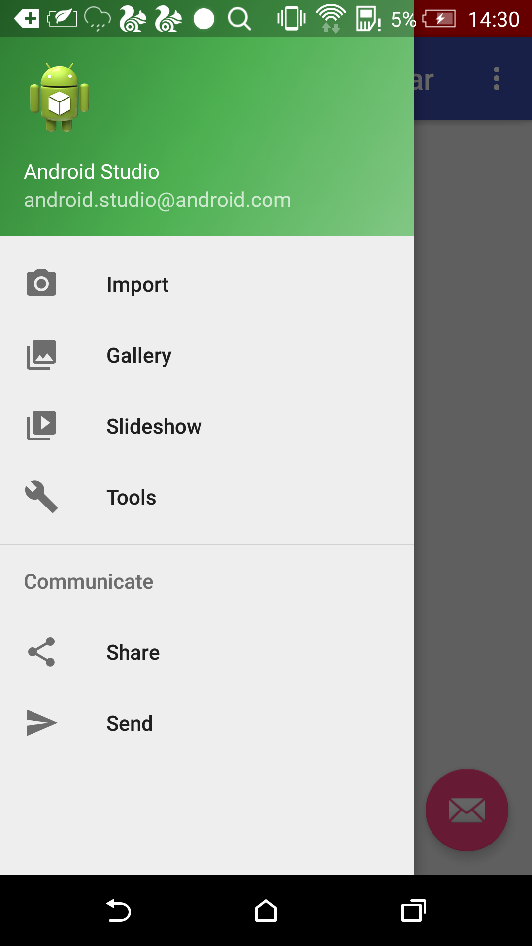 open drawerlayout see statusbar color