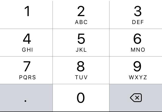 KeyboardType Decimal pad