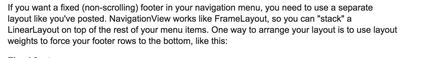 NavigationView是基于FrameLayout的