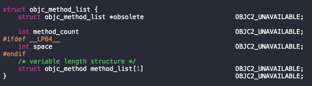 struct objc_method_lsit