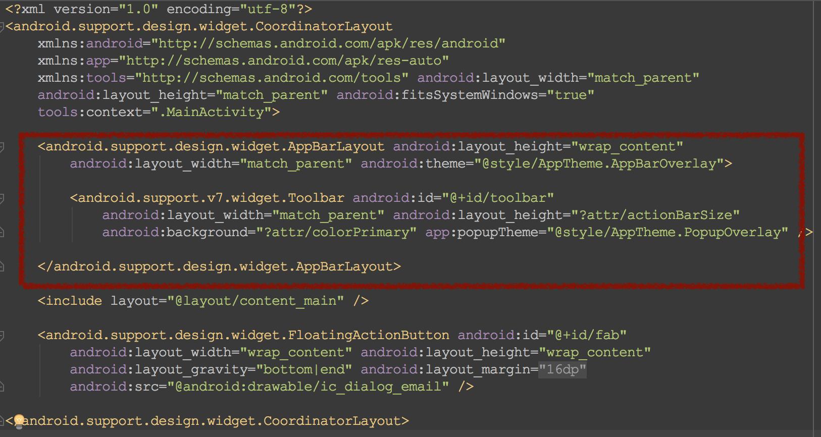MainActivity layout xml